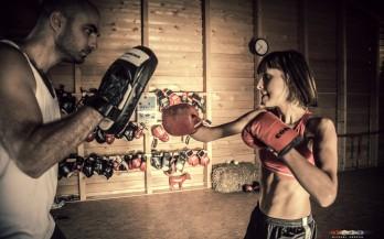 Boxtraining für ein Theaterstück bei Conny König in Adnet. Foto: Michael Herzog / AUTrenalin MEDIA