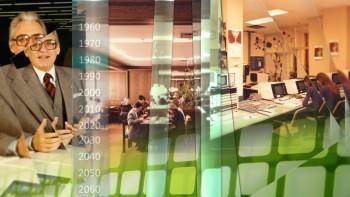 Hintergrundanimation / Bühnenbild für die 50 Jahrefeier der Firmer Datev AG