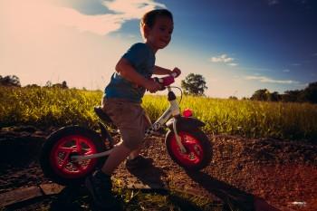 Bau der Erlebnis Bikestrecke - Die erste Probefahrt