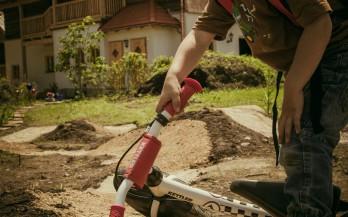 Bau der Erlebnis Bikestrecke